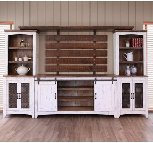 Artisan Home Pueblo Wall Unit with Distressed Finish