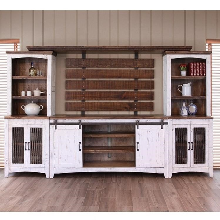 Great International Furniture Direct Pueblo Wall Unit With Distressed Finish