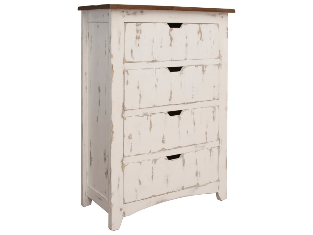 International Furniture Direct Pueblo4 Drawers Chest