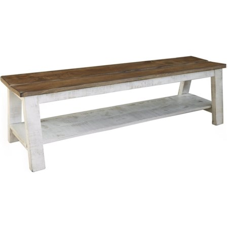 Breakfast and Bedroom Bench with Shelf