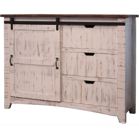 Chest w/ 3 Drawers & 1 Sliding Door