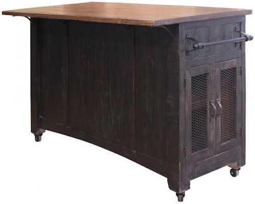 Artisan Home Pueblo Kitchen Island with Sliding Doors