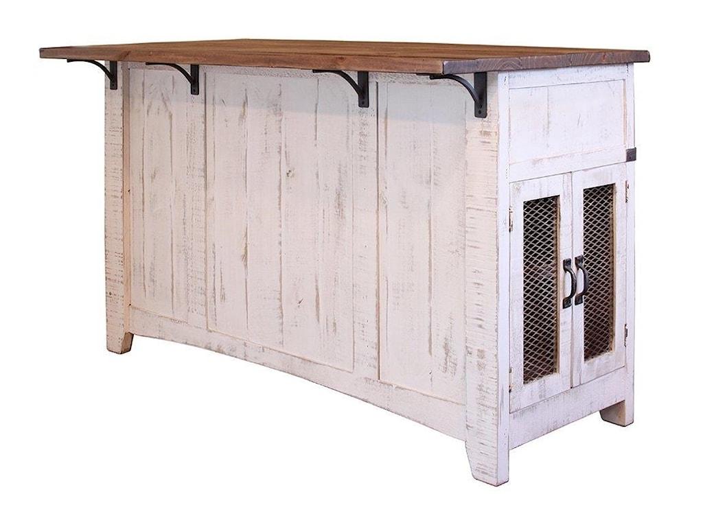 International Furniture Direct PUEBLO WHITEKitchen Island