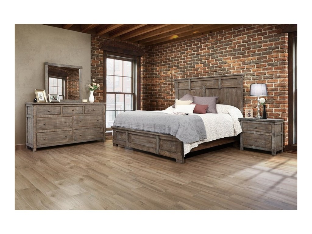 International Furniture Direct San AngeloQueen Bedroom Group