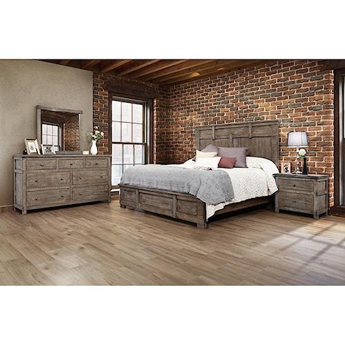 International Furniture Direct San Angelo Queen Bedroom Group