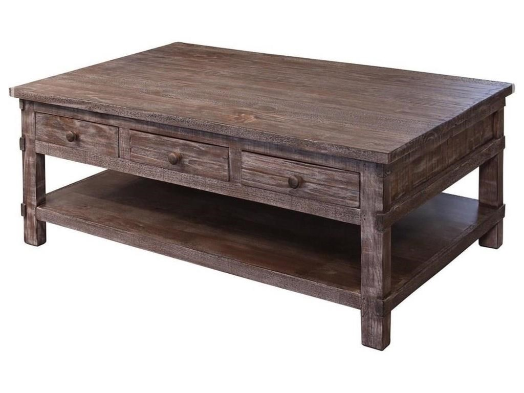 International Furniture Direct San AngeloCocktail Table and 2 End Tables Set