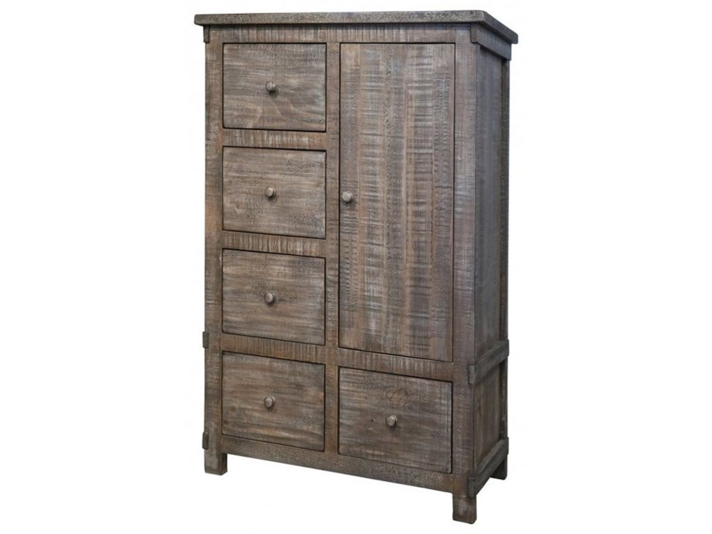 International Furniture Direct San Angelo5 Drawer 1 Door Chest with Doors
