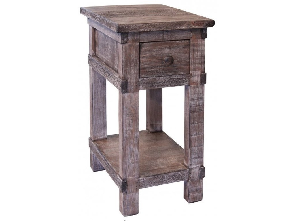 International Furniture Direct San Angelo1 Drawer Chairside Table