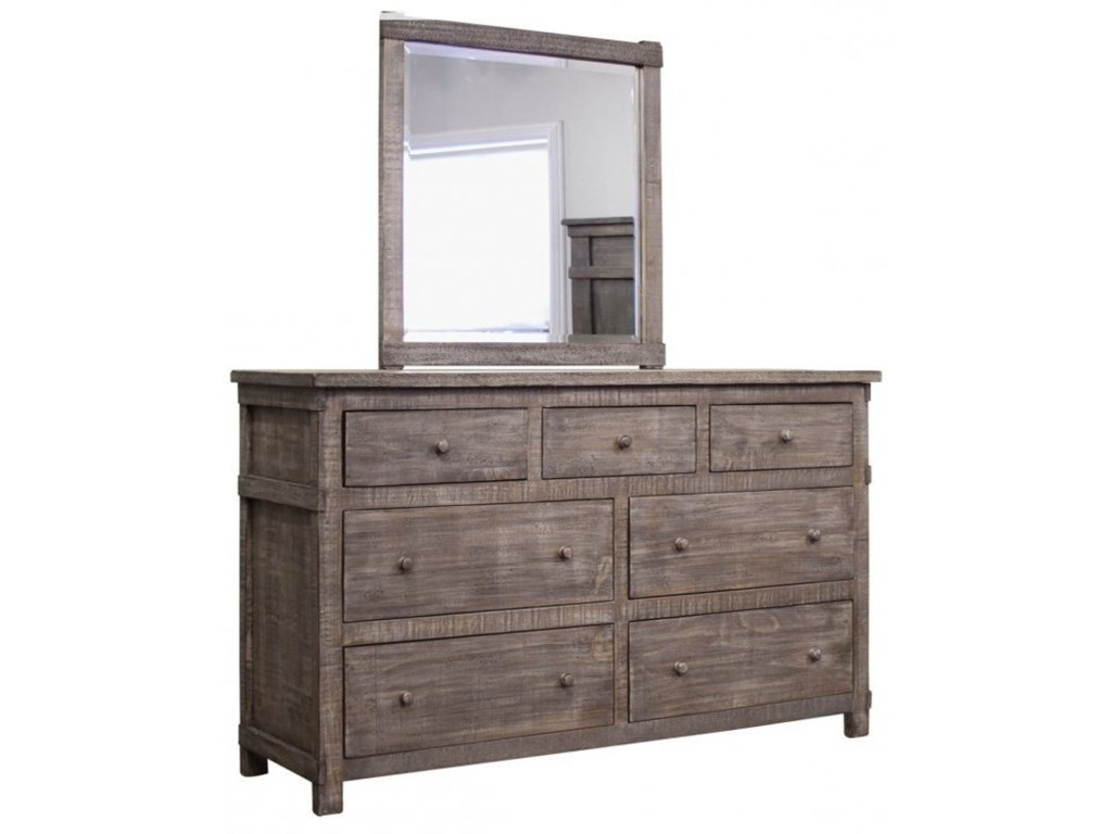 International Furniture Direct San AngeloDresser and Mirror
