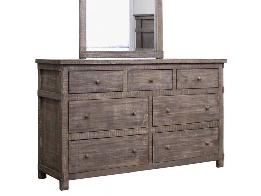 International Furniture Direct San Angelo7 Drawer Dresser