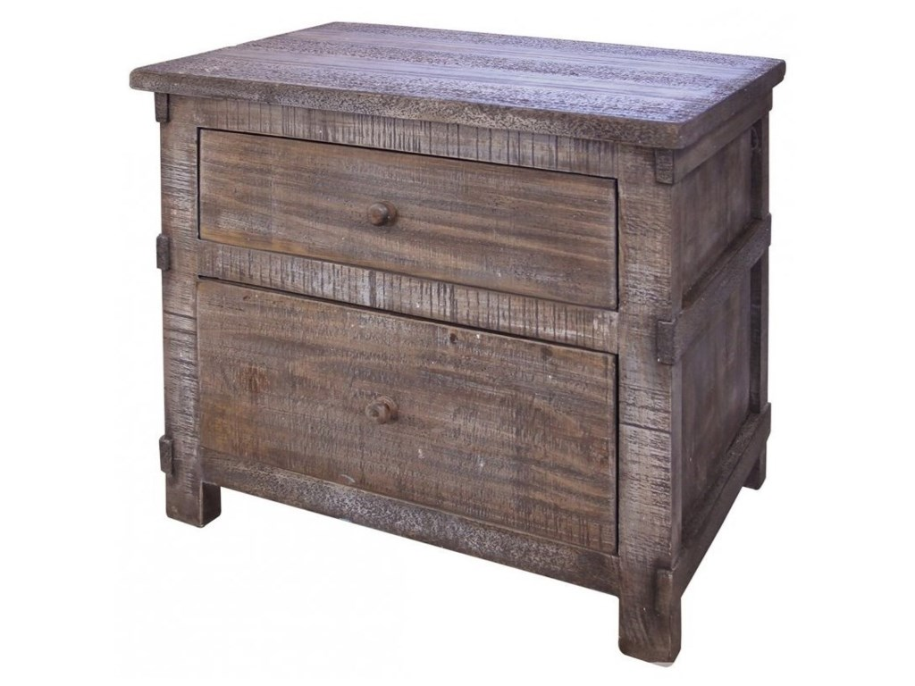 International Furniture Direct San Angelo2 Drawer Nightstand