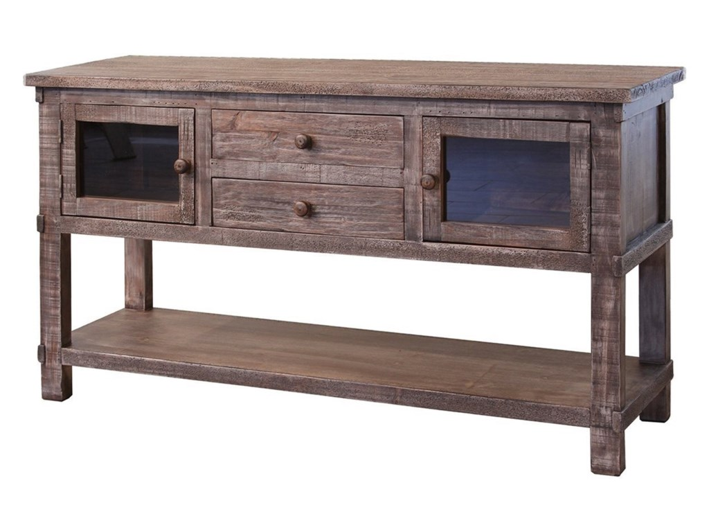 International Furniture Direct San Angelo2 Drawer 2 Door Sofa Table