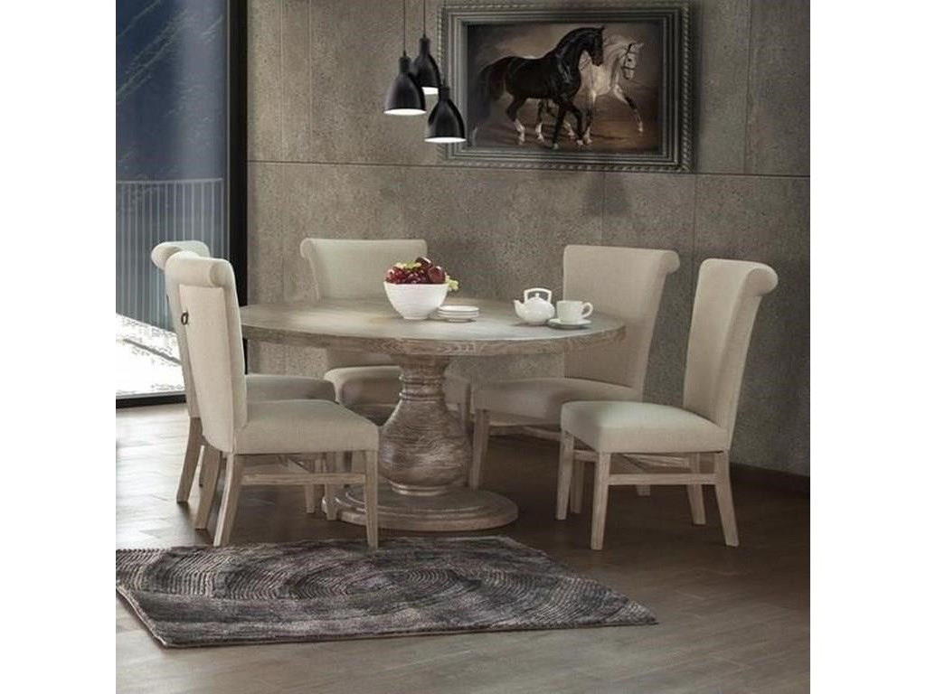 International Furniture Direct Bonanza Sand7 PC Dining Room Set