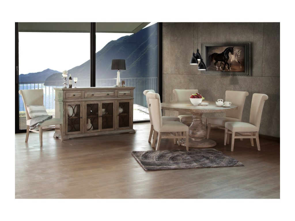 International Furniture Direct Bonanza SandCasual Dining Room Group