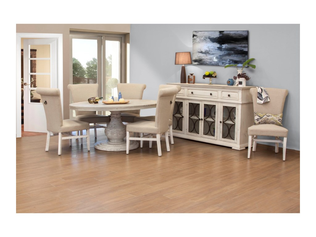 International Furniture Direct Bonanza IvoryCasual Dining Room Group
