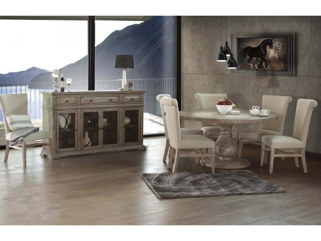 International Furniture Direct Bonanza SandRound Dining Table