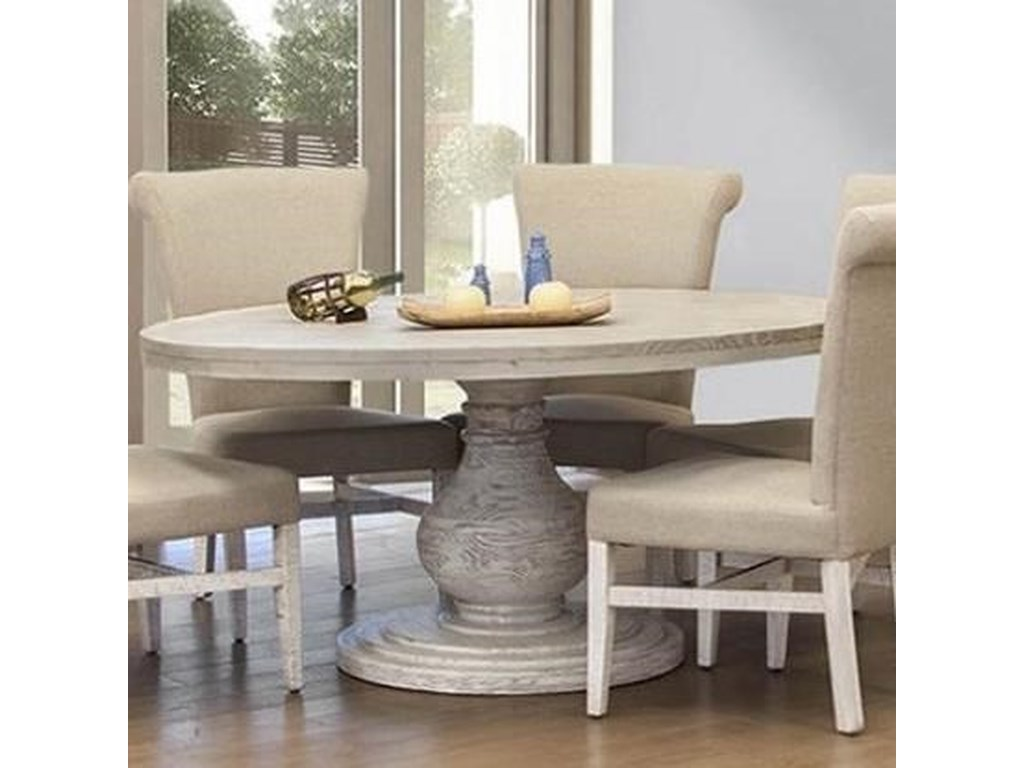 International Furniture Direct Bonanza IvoryRound Dining Table