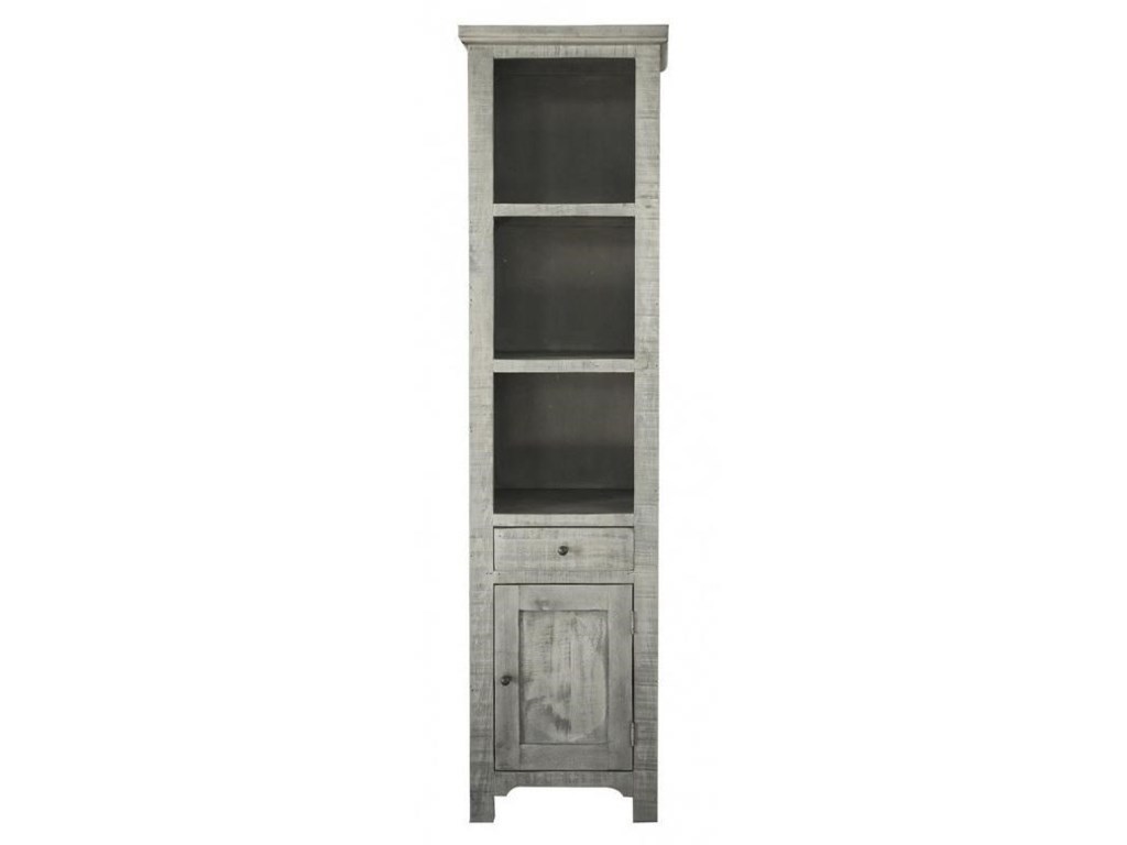 International Furniture Direct RiveraSolid Pine Bookcase
