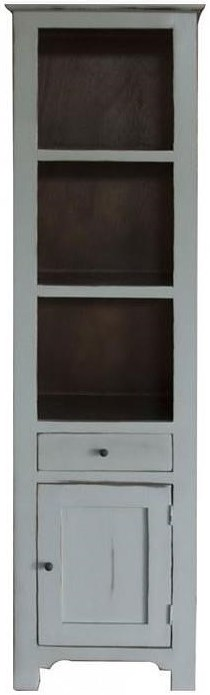International Furniture Direct Rivera Solid Pine Open Bookcase with 1 Drawer and 1 Door