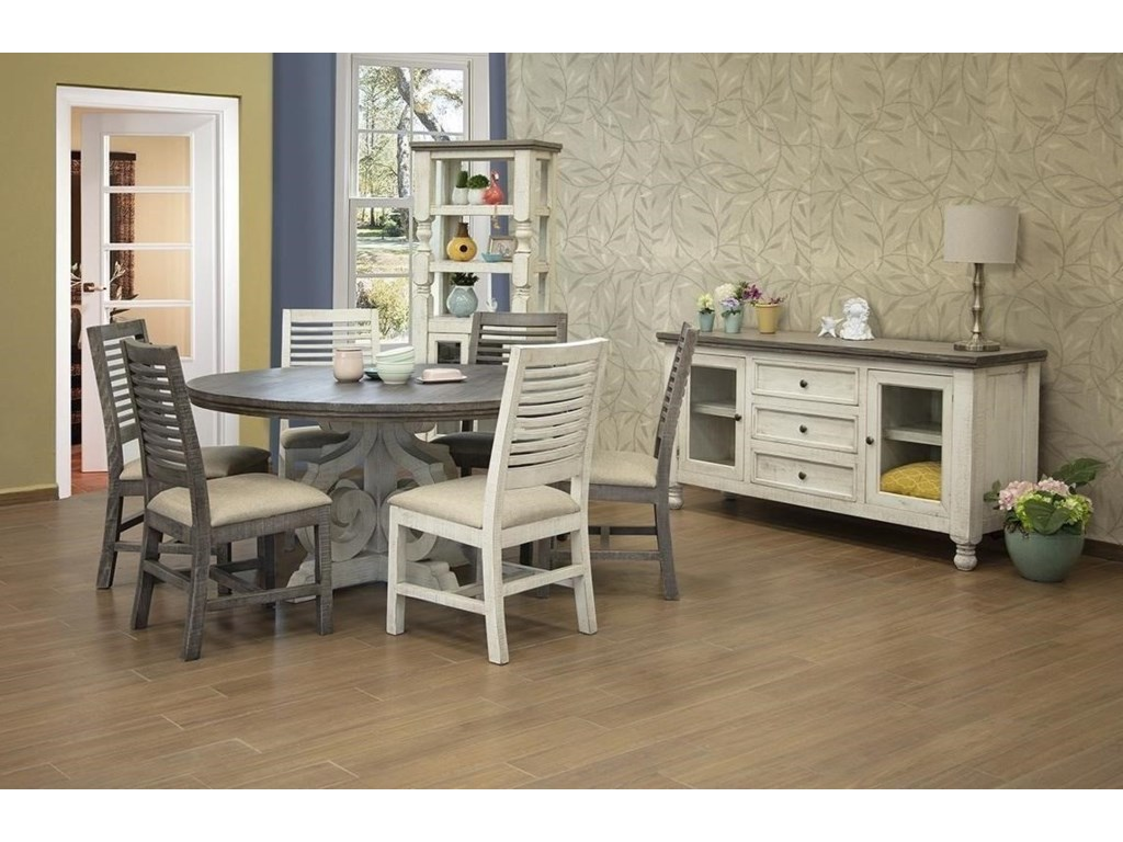 International Furniture Direct Stone5 PC Dining Room Set