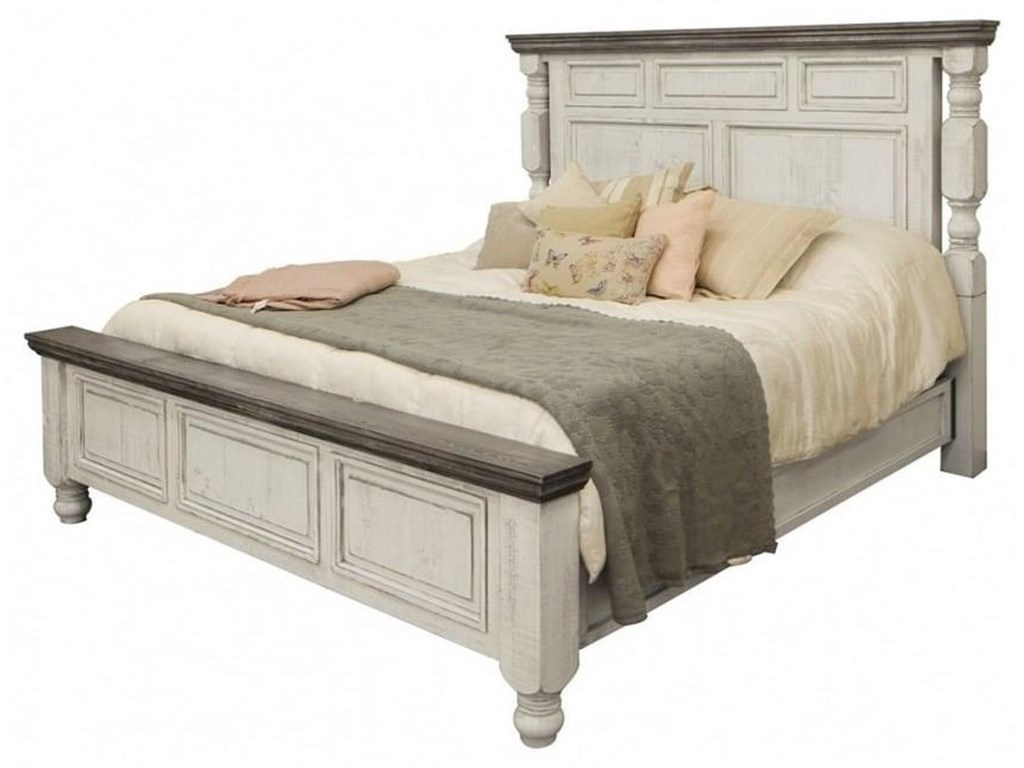 International Furniture Direct StoneKing Panel Bed Package