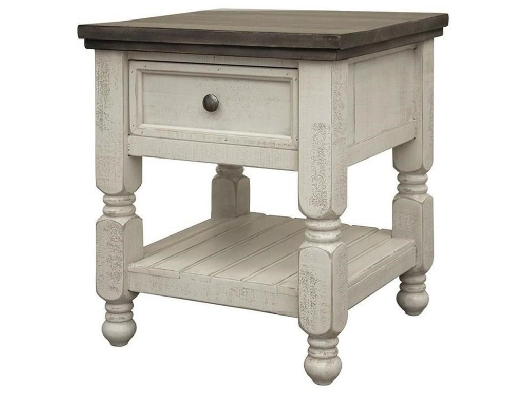International Furniture Direct StoneCocktail Table, End Table and Sofa Table Set