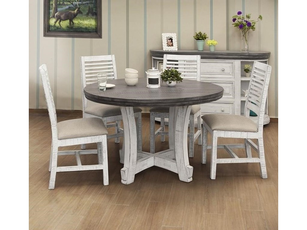 International Furniture Direct Stone5-Piece Dining Set