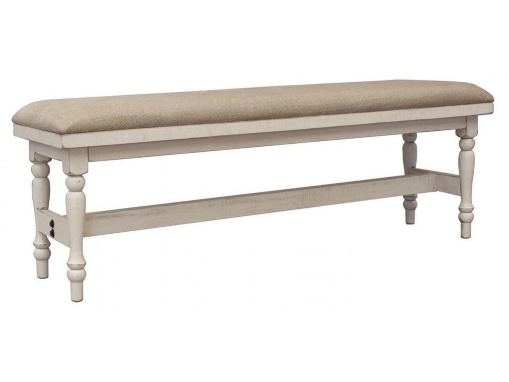 International Furniture Direct StoneBreakfast Bench with Turned Legs