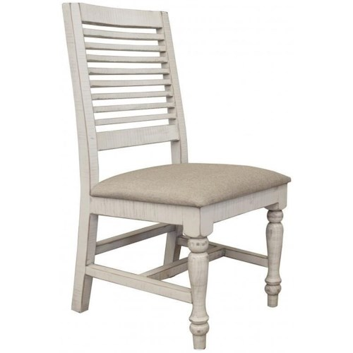 International Furniture Direct Stone Relaxed Vintage Side Chair with Turned Legs