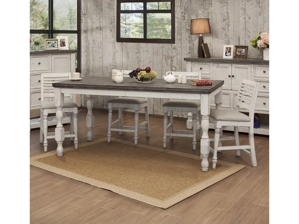Muebles de Mexico Stone5-Piece Counter Height Table and Chair Set