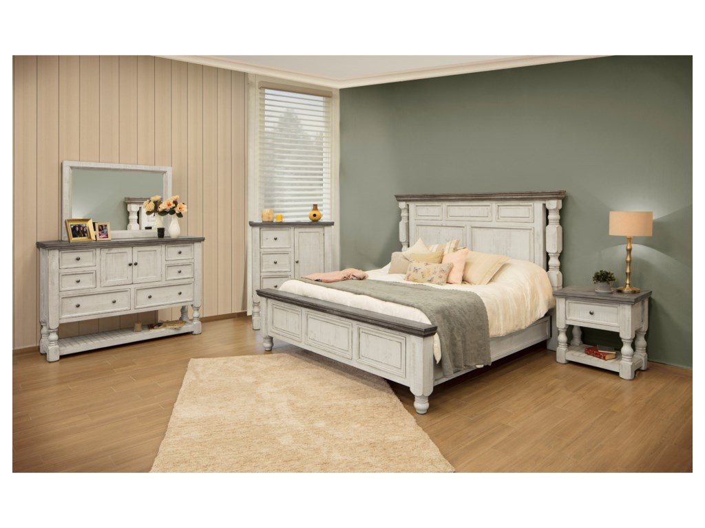 International Furniture Direct StoneChest with Doors