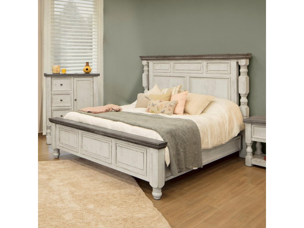 International Furniture Direct StoneQueen Bed