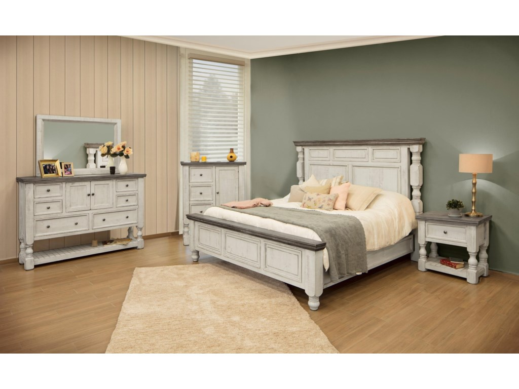 International Furniture Direct 33304Queen Bed