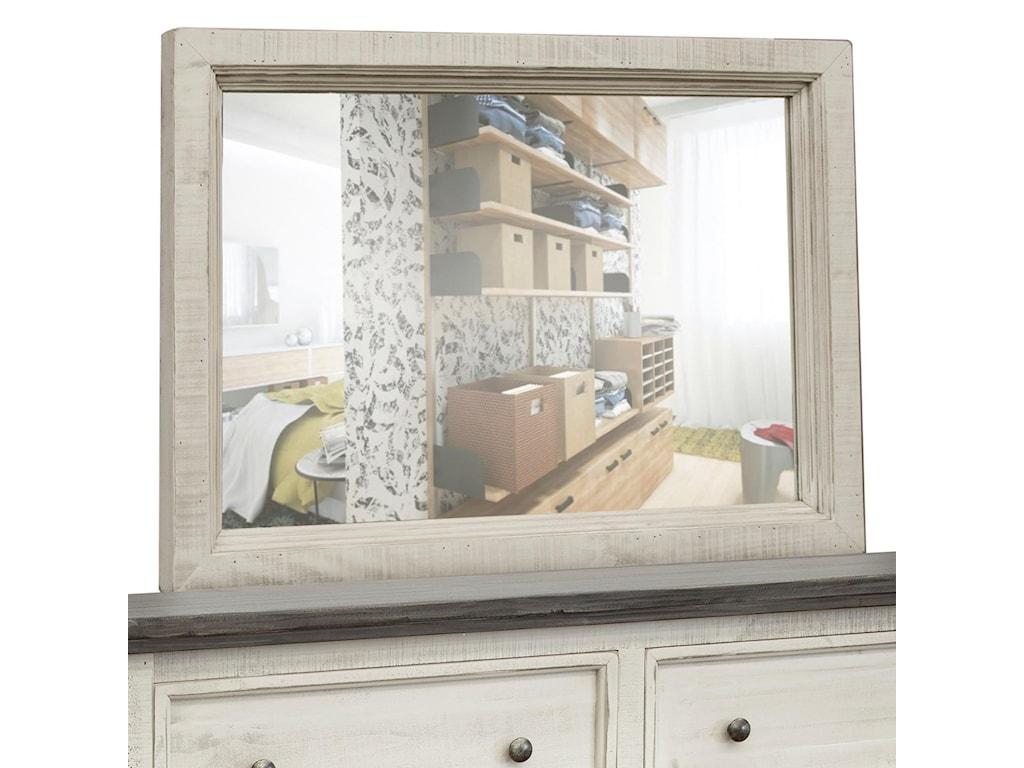 International Furniture Direct StoneDresser Mirror