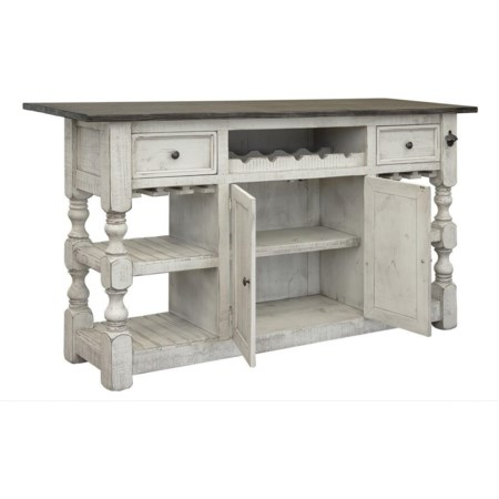 Bar with 2 Drawers and 2 Doors