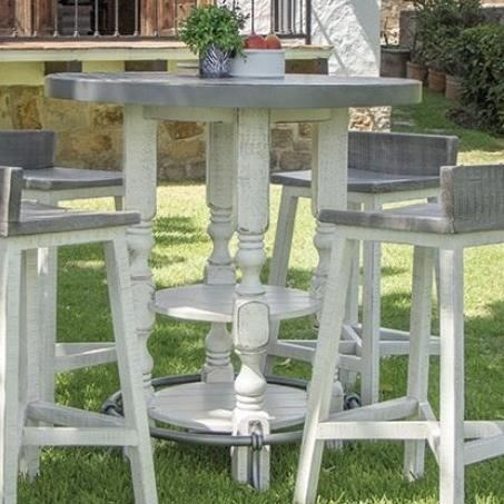 Relaxed Vintage Bistro Bar Table