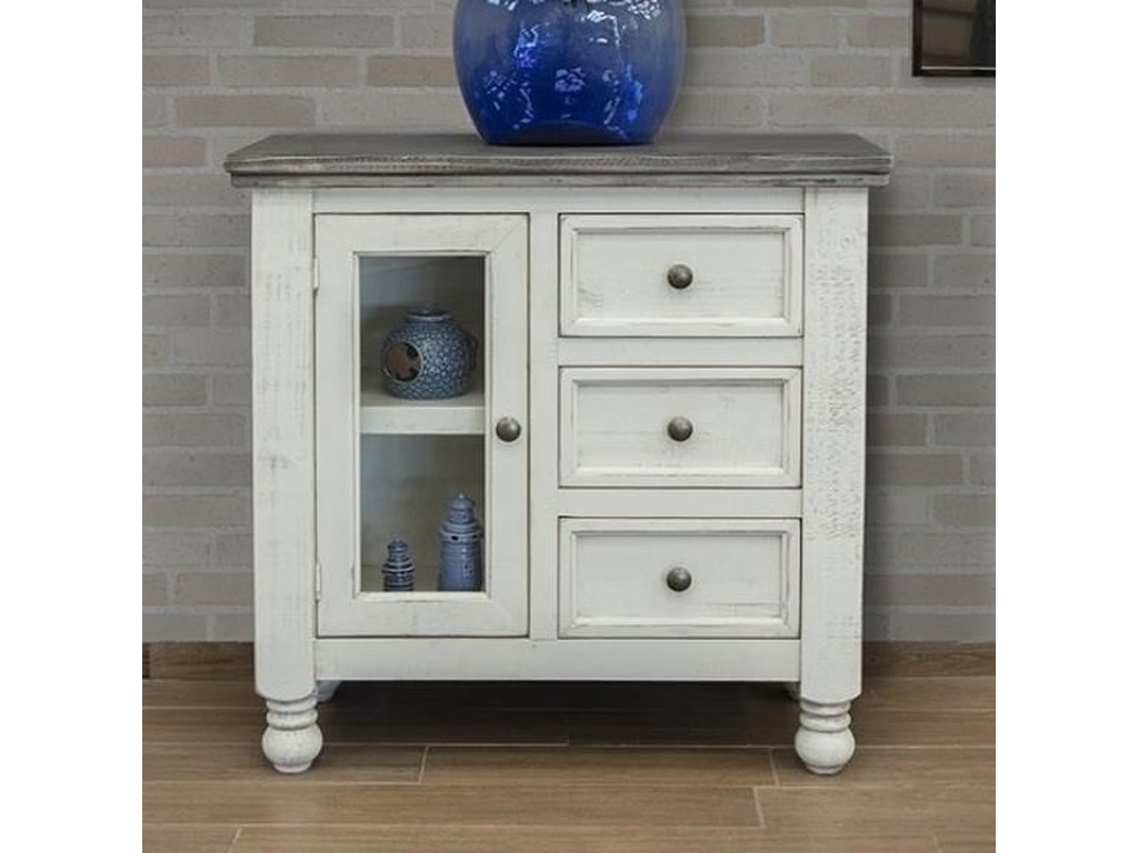 International Furniture Direct Stone3 Drawer, 1 Door Server