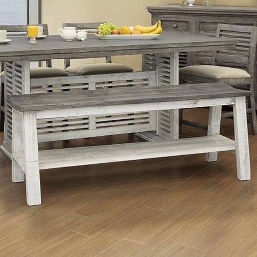 International Furniture Direct StoneCounter Height Bench