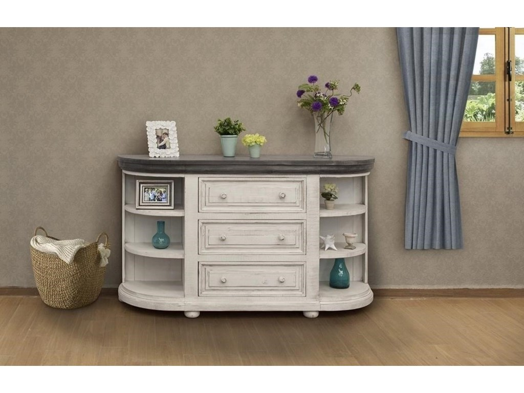 International Furniture Direct StoneConsole