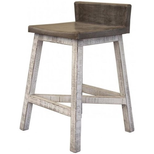 International Furniture Direct Stone Relaxed Vintage Bar Stool