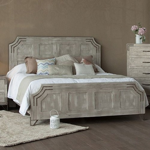 International Furniture Direct Camelia California King Platform Bed