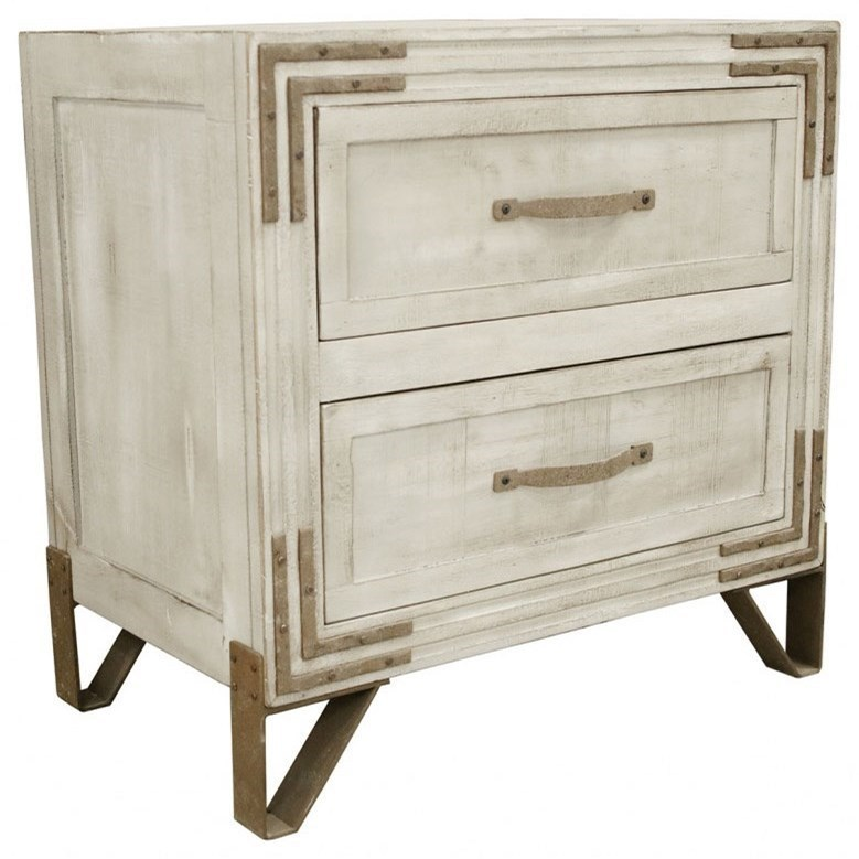 Camelia 2 Drawer Nightstand With Wrought Iron Feet By International  Furniture Direct