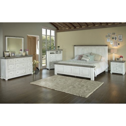 International Furniture Direct 768 Luna Cal King Bedroom Group