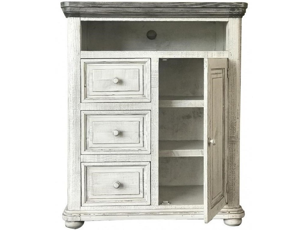 International Furniture Direct 768 LunaChest with Doors