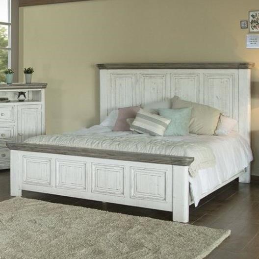 International Furniture Direct 768 LunaKing Panel Bed