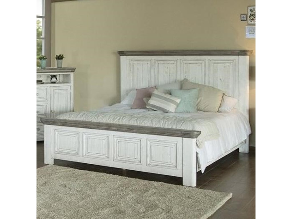 International Furniture Direct 768 LunaQueen Panel Bed