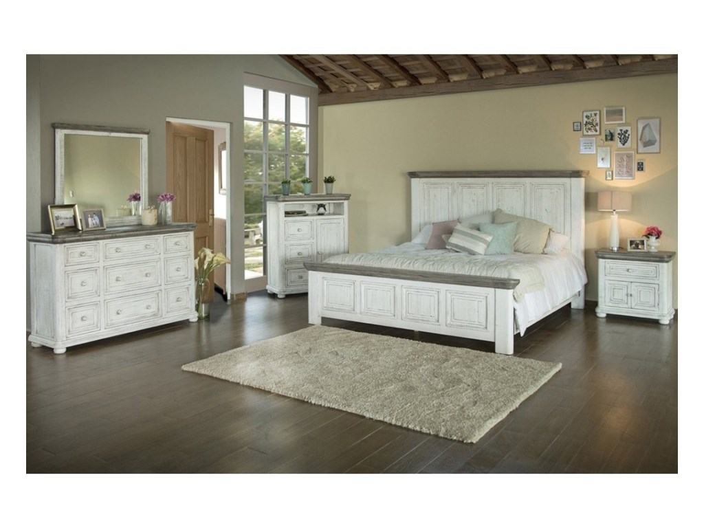 International Furniture Direct 768 LunaQueen Panel Bed
