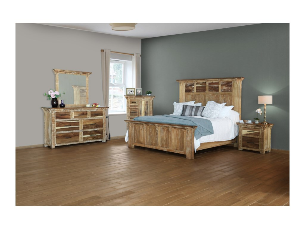 International Furniture Direct CasablancaQueen Bedroom Group