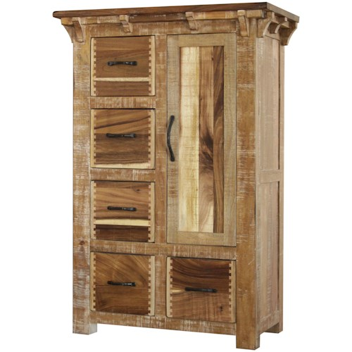 International Furniture Direct Casablanca Chest of Drawers with One Door