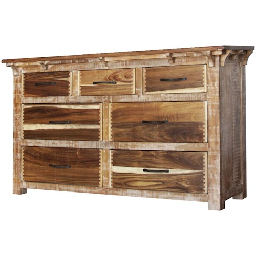International Furniture Direct Casablanca Seven Drawer Dresser